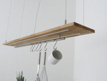 Hängelampe Eiche natur geölt Doppel LED Zeile, 120cm – Bild 6
