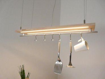Hängelampe Buchenholz Doppel-LED 80cm – Bild 2