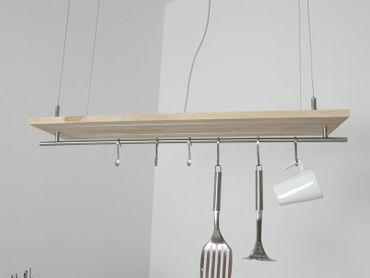 Hängelampe Buchenholz Doppel-LED 80cm – Bild 7