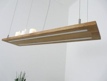 Hängelampe Akazie Doppel-LED 80cm – Bild 5