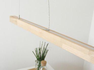 LED Hängelampe Holz Buche mit Ober- und Unterlicht 120 cm – Bild 8