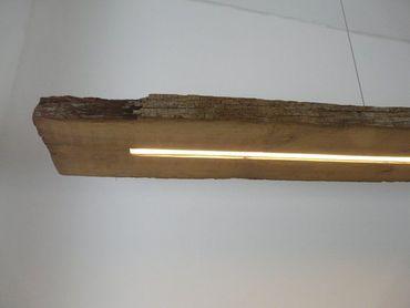 XXL LED Lampe Hängelampe antik Balken, 282cm – Bild 6
