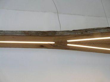 XXL LED Lampe Hängelampe antik Balken, 282cm – Bild 7