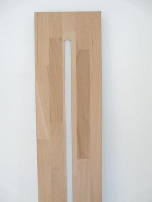 LED Hängeregal Leuchte Holz Buche, 160cm – Bild 4