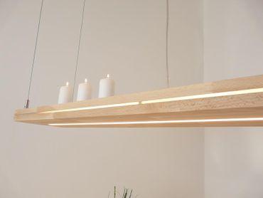 "LED Hängelampe ""Sandwich"" Buchenholz, 120cm – Bild 3"