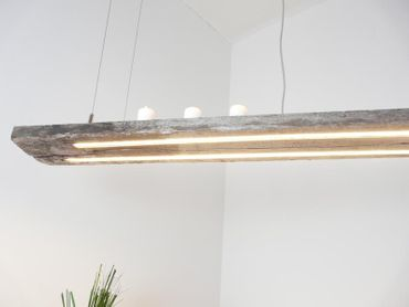 LED Lampe Hängelampe antik Balken graue Patina, 153cm – Bild 2