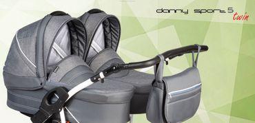 Zwillingskinderwagen Dorjan DANNY SPORT 5 Twin 3in1 – Bild 1