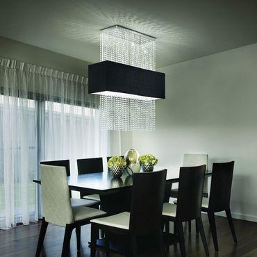 Deckenlampe chrom schwarz, rechteckig – Bild 1