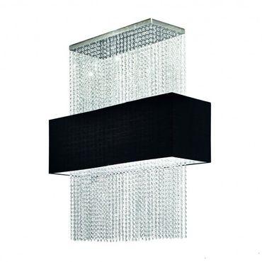 Deckenlampe chrom schwarz, rechteckig – Bild 2