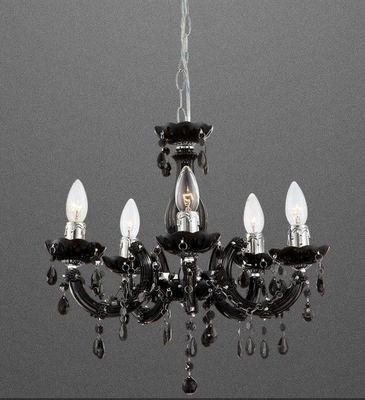 Kronleuchter Lüster CUIMBRA II, Chrom schwarz, Acrylkristalle, Globo 63110-5 – Bild 1