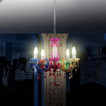 Eleganter Kronleuchter bunt, ø 44cm – Bild 2