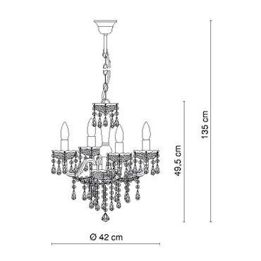 Eleganter Kronleuchter weiss, ø 42cm – Bild 2