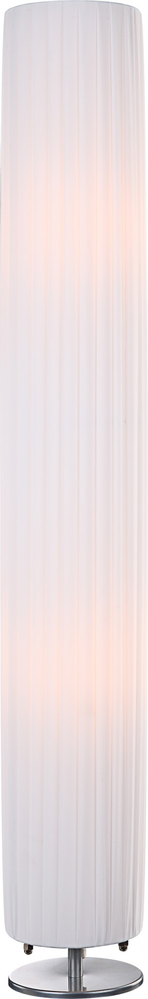 Stehlampe BAILEY, Chrom, Textil weiss, Globo 24662R