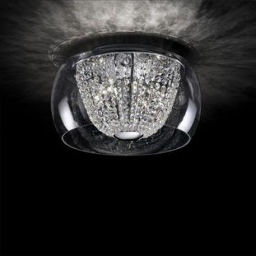 Kristall Deckenlampe Ø40cm 6-flammig chrom