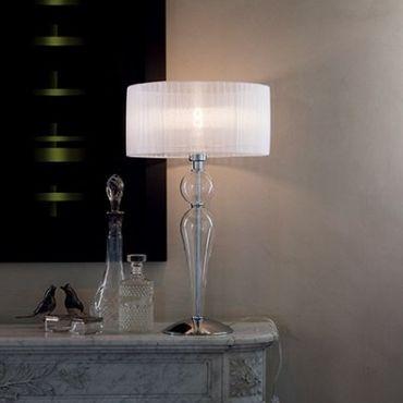 Tischlampe 1-flammig Ø36cm weiss – Bild 2