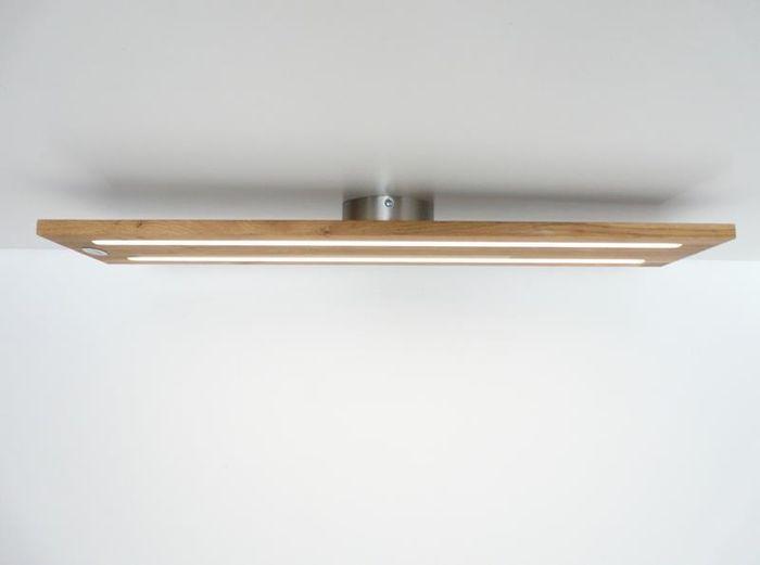 Deckenlampe Holz Eiche Geolt 120cm Deckenlampen Deckenlampen Holz