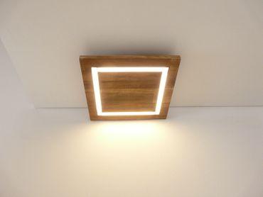 Deckenlampe Holz Akazie LED 30 x 30 cm  – Bild 2