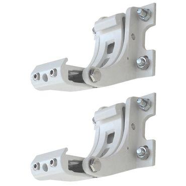 2x Wandhalterung für Markise T122, T123, Wandkonsole Wandmontage Adapter weiss - 42759 – Bild 1