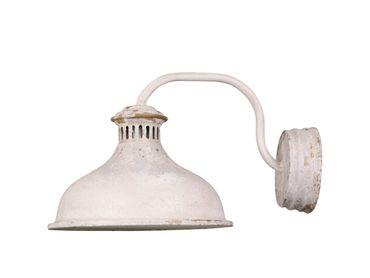 Wandlampe shabby chic antik creme – Bild 1