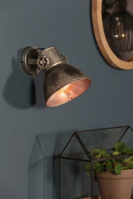 Wandlampe 21cm ELAY vintage Silber – Bild 1