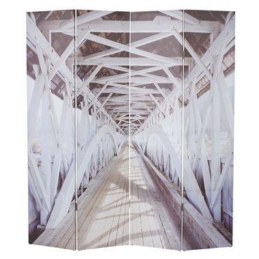 Foto-Paravent, Paravent Raumteiler Trennwand 180x160cm New York - 43211 – Bild 4