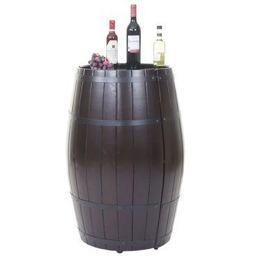 Weinregal, Flaschenregal Fass Holzregal, mit Tür 85x52x52cm 23 Flaschen - 43223 – Bild 7