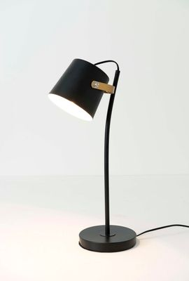 Tischlampe 1-flg. ESPERTO, Eisen schwarz-gold-weiss Holländer 168 1202