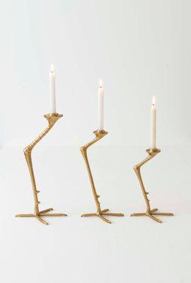 Kerzenständer 1-flg. LA GRU MEDIUM, Eisen gold Holländer 207 8102