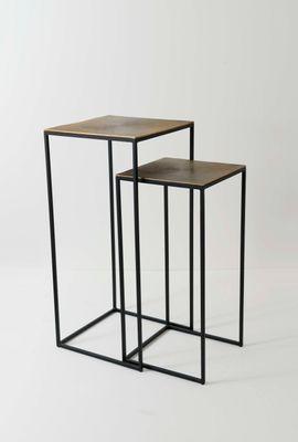 Hochtisch-Set EFFETTO, Eisen-Aluminium silber-schwarz