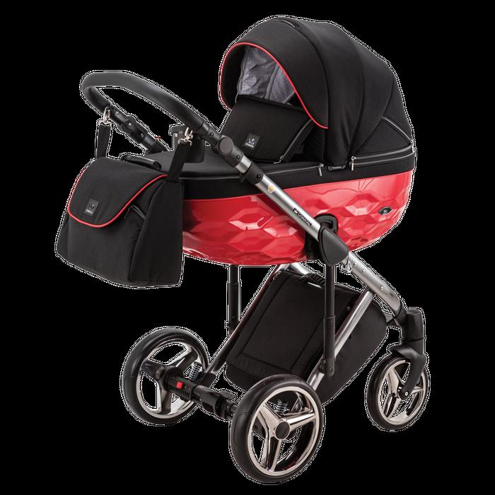 Kombikinderwagen Adamex Chantal Special Edition schwarz-rot