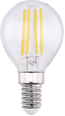 LED Leuchtmittel, Metall silberfarben, Glas klar, Globo 10585K