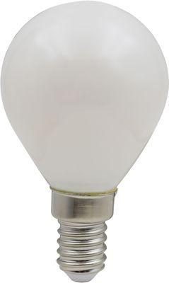 LED E14 Leuchtmittel silber metallic Glas opal, Globo 10589OD