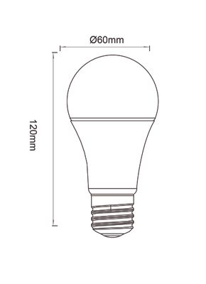 LED RGB E27 Leuchtmittel, Metall weiss, Kunststoff opal, Globo 106710SH – Bild 7