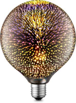 LED Leuchtmittel, 1XE27, Metall silberfarben, Glas, Globo 11509