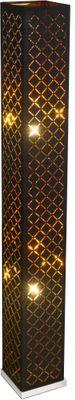 Stehlampe CLARKE, nickel matt, Textil schwarz, Globo 15229S2L