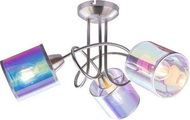 Deckenlampe MELANIE, nickel matt, Textil multicolor, Globo 15260-3D
