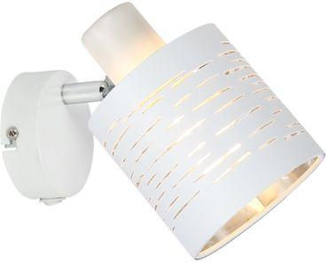 Wandlampe BARCA, Metall weiss, Kunststoff weiss, Globo 15341-1