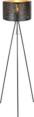 Stehlampe TUNNO, Metall schwarz, Kunststoff schwarz, Globo 15342S