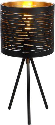 Tischlampe TUNNO, Metall schwarz, Kunststoff schwarz, Globo 15342T
