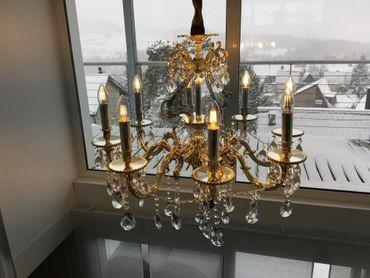 KRONLEUCHTER 8-armig Ø72cm goldfarben LED – Bild 3