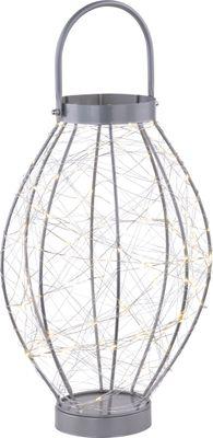 Dekorartikel LED TL, Metall silberfarben, Globo 28206