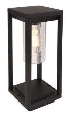 Aussenbeleuchtung ALUMINIUM DRUCKGUSS SCHWARZ MATT, 1XE, Aluminium Druckguss schwarz matt, Kunststoff klar, Globo 3135S1