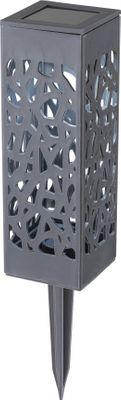 Solarlampe, 16er Set, LED, Kunststoff anthrazit, Kunststoff, Globo 33008A-16
