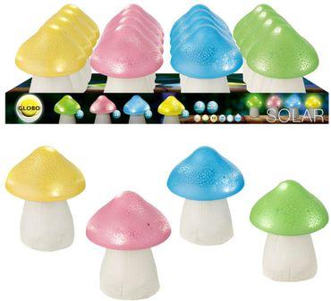 Solarlampe, 12er Set, 5XLED, Kunststoff bunt, Globo 33199-12