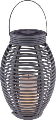 Solarlampe, 1XLED, Kunststoff grau, Globo 33284