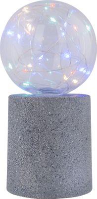 Solarlampe, 12er Set, LED, Kunststoff grau, Kunststoff klar, Globo 33546-12