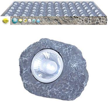 Solarlampe AL, 84er Set, Kunststoff grau, Kunststoff klar, Globo 33993-84