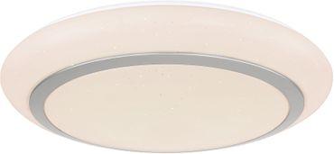 Deckenlampe STEFAN, Metall weiss, Acryl opal, Globo 41746-24