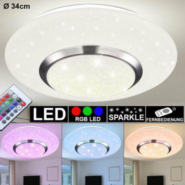 Deckenlampe CANDIDA, Metall weiss, Kunststoff opal, Globo 48311-18RGB – Bild 1