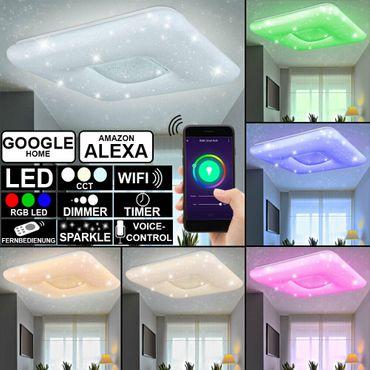 Deckenlampe TRYSTAN, Metall weiss, Chromring, Globo 48409-48RGBSH – Bild 1